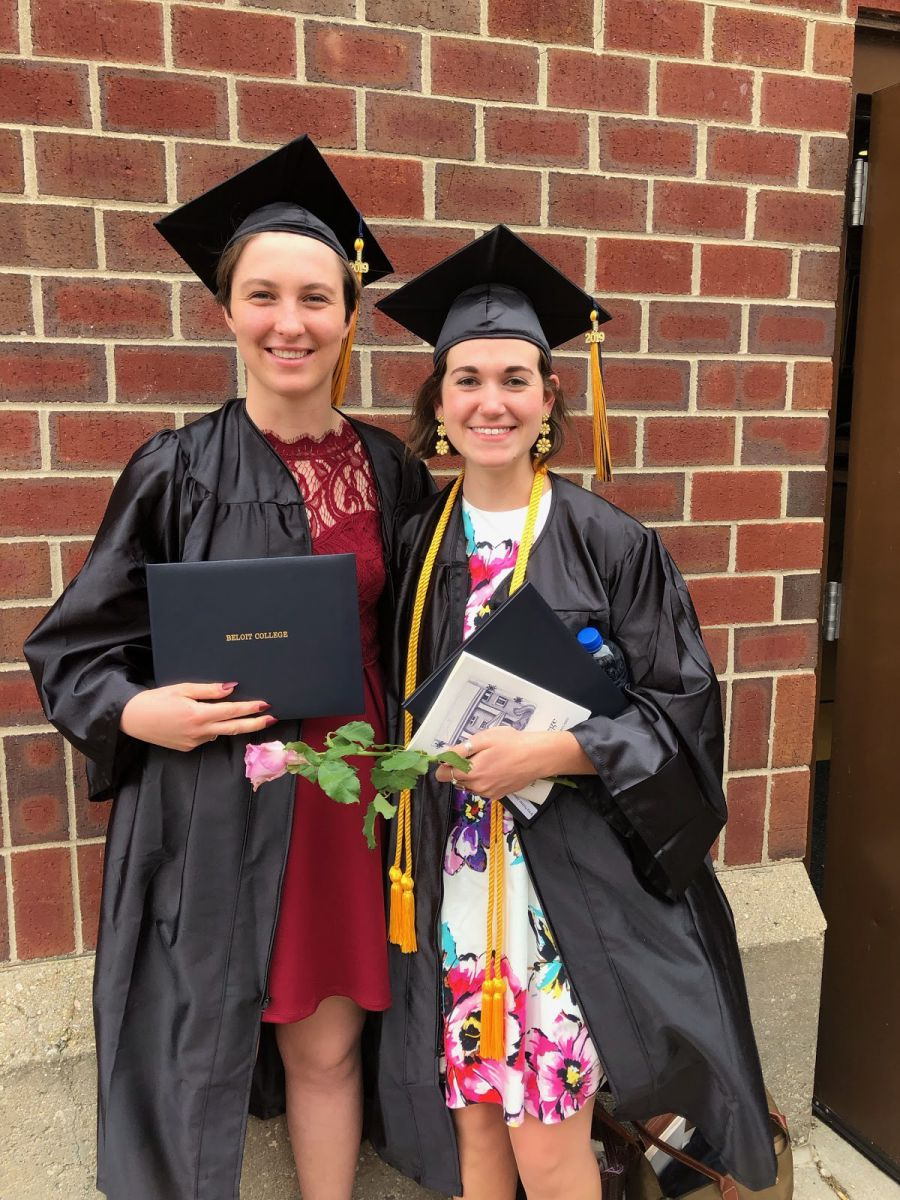 *Graduation day 2019 with my best friend since day one at Beloit College  // L to R: Valley StipeMaas '19, myself