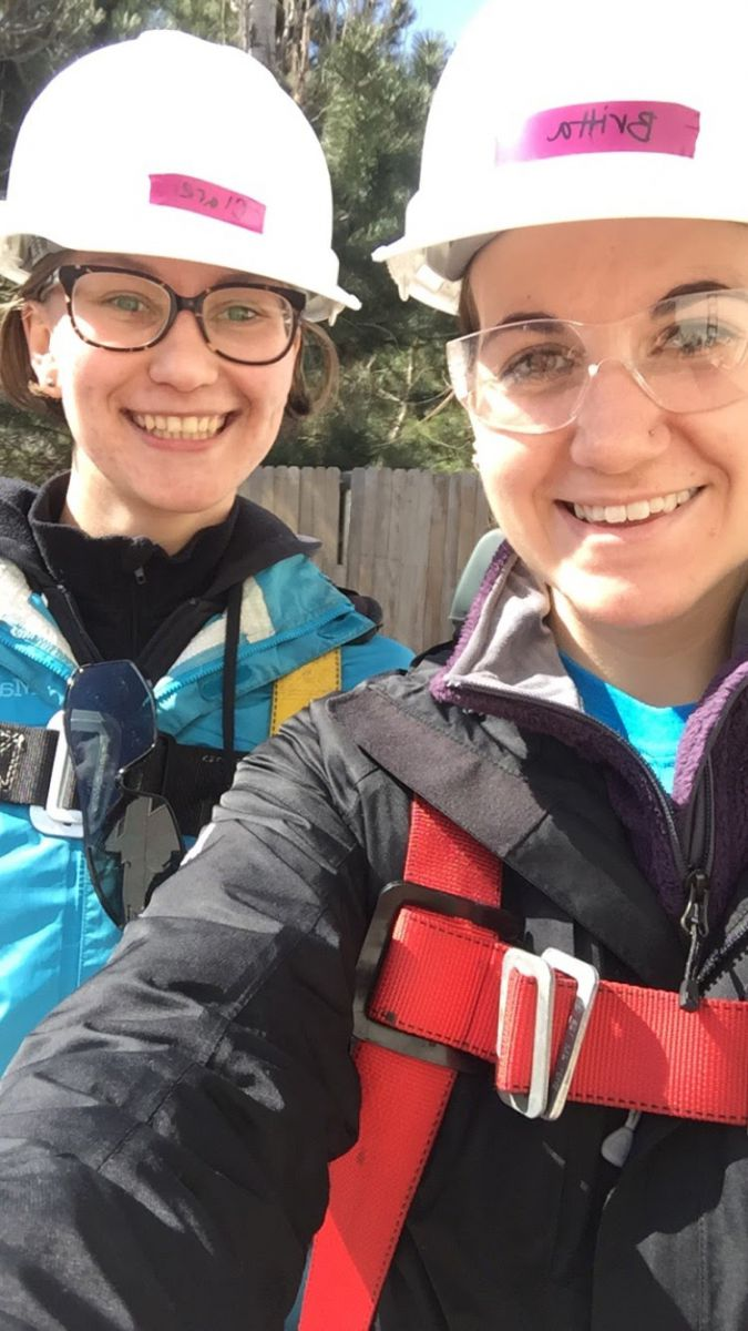 *A fellow Beloit College student and myself on Solar Spring Break in 2016 // L to R: Clare Langhan '19, myself